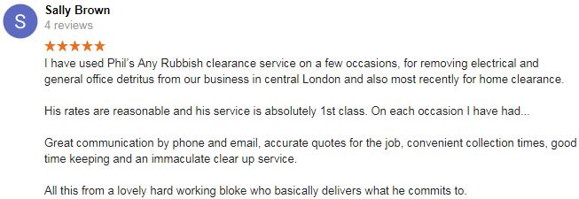 shoreditch rubbish clearance